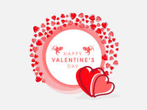 Beautiful frame for Happy Valentines Day celebration. Royalty Free Stock Image
