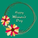Beautiful frame for International Womens Day celebration. Stock Photo