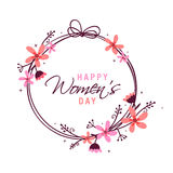 Beautiful frame for International Womens Day celebration. Royalty Free Stock Photography