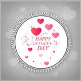 Beautiful frame for International Women's Day celebration. Stock Photos