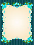 Beautiful frame with Lily Stock Photos