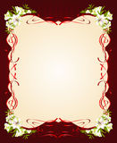 Beautiful frame with Lily Royalty Free Stock Photos
