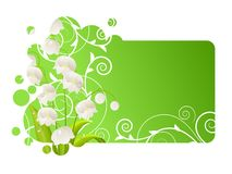 Beautiful frame with lily of the valley Royalty Free Stock Photo