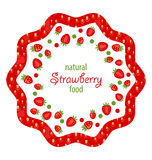 Beautiful Frame Made of Strawberry Royalty Free Stock Photography