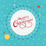 Beautiful frame for Merry Christmas celebrations. Stock Photography