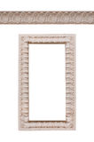 Beautiful frame and ornament bas-relief on a white background Stock Photo