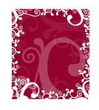 Beautiful frame with ornamental design. Place your writing in the middle royalty free illustration