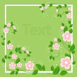 Beautiful frame for photography and text. Delicate rosewood flowers. Spring background. vector illustration royalty free illustration