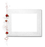 Beautiful frame with red flowers Royalty Free Stock Photos