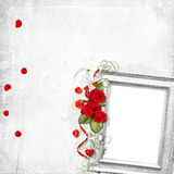 Beautiful frame with roses Royalty Free Stock Photo