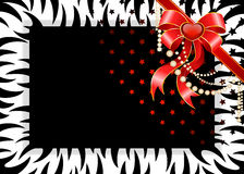 Beautiful frame in style of tiger is decorated a Royalty Free Stock Photos