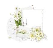 Beautiful frame on the white background Royalty Free Stock Image