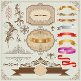 Beautiful Frames And Design Elements stock illustration