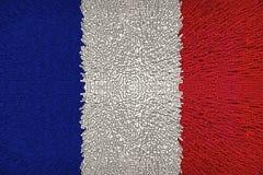 Beautiful France flag closeup stock photography