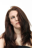Beautiful, Frazzled Brunette Stock Photography
