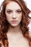 Beautiful freckled girl Royalty Free Stock Photography