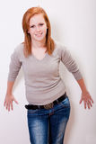 Beautiful freckled teen gir Royalty Free Stock Photo