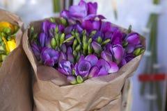 Beautiful freesia flowers bouquet Stock Photography