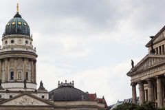 Beautiful French Cathedral at Gendarmenmarkt in Berlin Stock Image