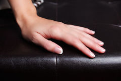 Beautiful french manicured nails Royalty Free Stock Image