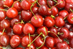 Beautiful fresh cherry Stock Images
