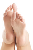 Beautiful and fresh, clean bare feet. Royalty Free Stock Images