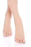 Beautiful fresh, clean feet with pedicure. Stock Photography