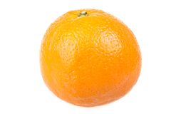 Beautiful fresh orange isolated on white Royalty Free Stock Image