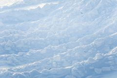Beautiful fresh snow pattern in minimalistic style. Winter background. Norway, Northern Europe. Close up texture Royalty Free Stock Photos