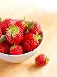 Beautiful fresh strawberries Stock Images