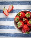 Beautiful fresh strawberries Stock Photos