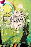 Beautiful Friday. Illustration of happy friday background Stock Photos