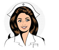 Beautiful friendly and confident nurse Royalty Free Stock Photography