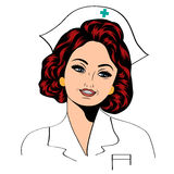 Beautiful friendly and confident nurse Royalty Free Stock Photos