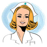 Beautiful friendly and confident nurse Stock Photography