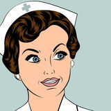 Beautiful friendly and confident nurse Stock Photos