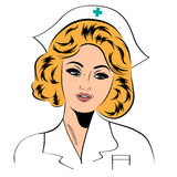 Beautiful friendly and confident nurse Stock Photo