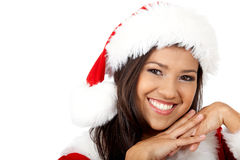 Beautiful friendly santa portrait Stock Photo