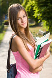 Beautiful friendly teen student girl. Stock Images
