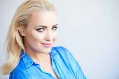 Beautiful friendly woman with a lovely smile Royalty Free Stock Photography