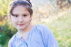 Beautiful friendly young girl Royalty Free Stock Images