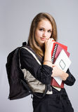 Beautiful friendly young student. Stock Images