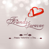 Beautiful friends forever for happy valentine's day heart Royalty Free Stock Image