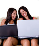 Beautiful friends women royalty free stock images