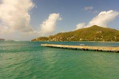 Beautiful friendship bay in the windward islands Royalty Free Stock Image