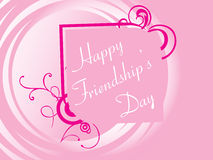 Beautiful friendship day greeting Royalty Free Stock Photos