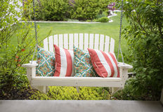 Beautiful front porch swing Stock Photos
