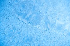 beautiful frost background of on ice window stock photo