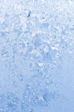 Beautiful frosty pattern on glass Royalty Free Stock Images