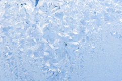 Beautiful frosty pattern on glass Stock Image